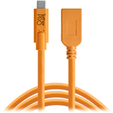 افزایش دهنده کابل  Tether Tools TetherPro USB Type-C to USB Type-A Extension Cable (15', Orange):CUCA415-ORG